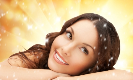 dayspa: picture of beautiful woman in spa salon