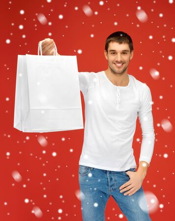 picture of handsome man with shopping bags Stock Photo - 16216113
