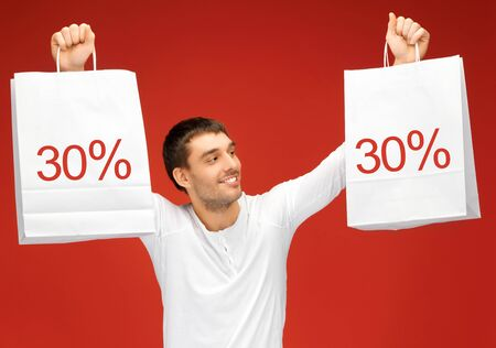picture of handsome man with shopping bags Stock Photo - 16216102
