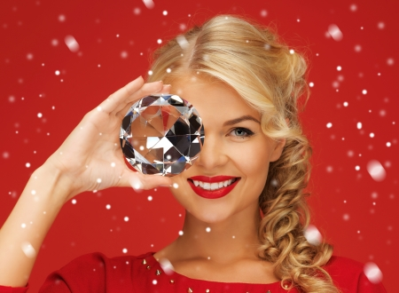 picture of lovely woman with big diamond Stock Photo - 16216119
