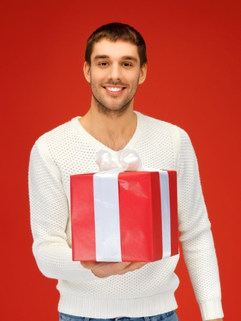 one of a kind: bright picture of handsome man with a gift