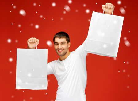 picture of handsome man with shopping bags Stock Photo - 16300297