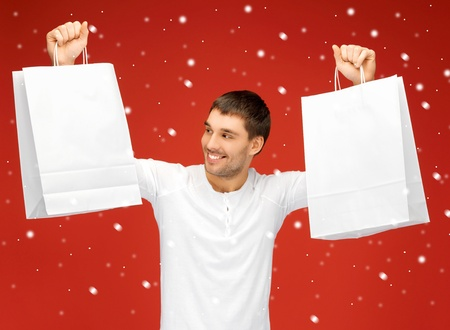 picture of handsome man with shopping bags Stock Photo - 16335273