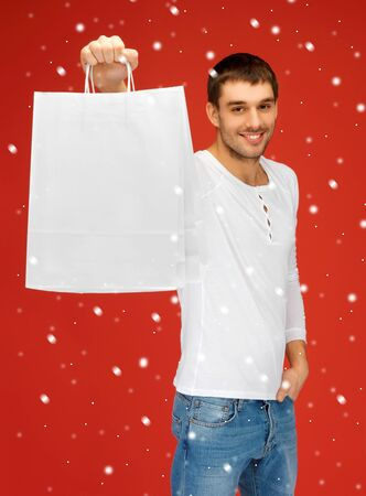 picture of handsome man with shopping bags Stock Photo - 16335845