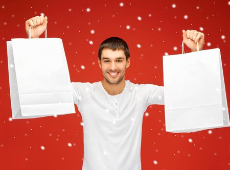 picture of handsome man with shopping bags Stock Photo - 16353872