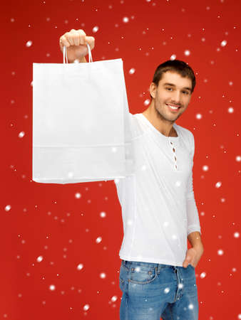 picture of handsome man with shopping bags Stock Photo - 16391718