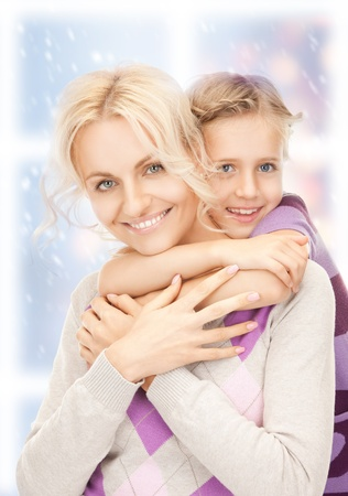 bright picture of happy mother and little girl  Stock Photo - 16442120