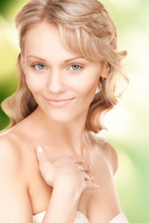 bright closeup portrait picture of beautiful woman Stock Photo - 16549385