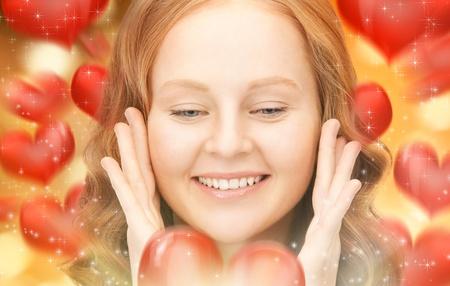 bright closeup portrait picture of beautiful woman Stock Photo - 16585248