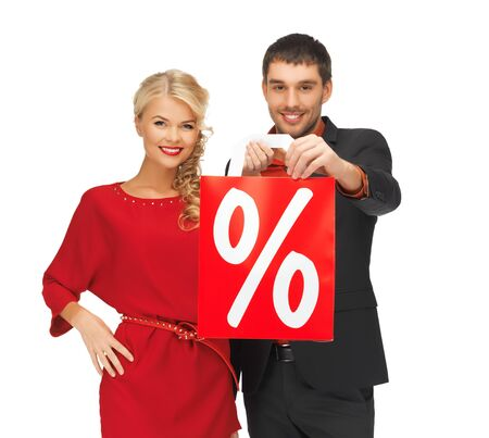 bright picture of man and woman with shopping bag Stock Photo - 16584754
