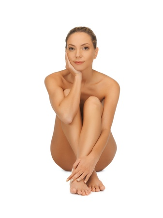 picture of healthy naked woman over white Stock Photo - 16584766