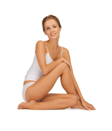 slender: picture of beautiful woman in cotton undrewear