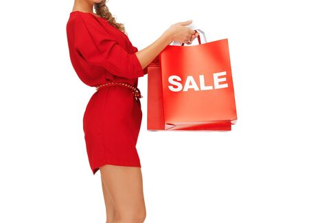 closeup picture of woman holding shopping bags Stock Photo - 16714372