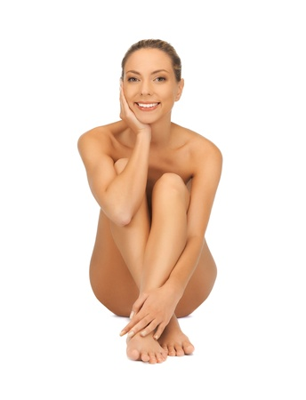 picture of healthy naked woman over white Stock Photo - 16714376