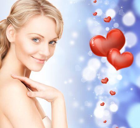 bright closeup portrait picture of beautiful woman Stock Photo - 16716547