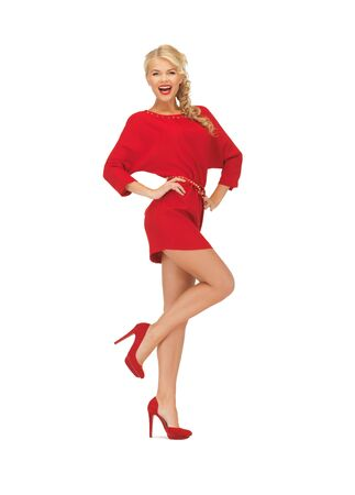 picture of dancing lovely woman in red dress Stock Photo - 16716564