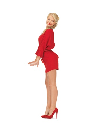 picture of dancing lovely woman in red dress Stock Photo - 16716587