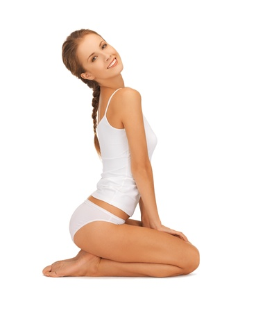 picture of beautiful woman in cotton undrewear Stock Photo - 16716574