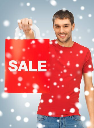 picture of handsome man with shopping bags Stock Photo - 16734213