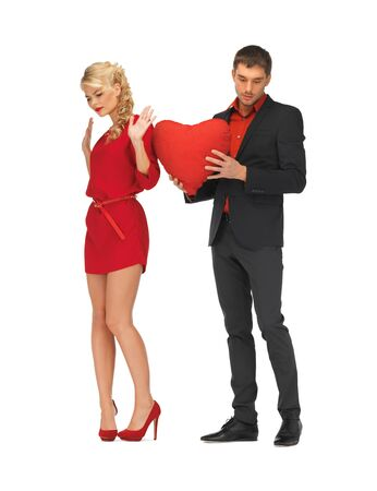 rejected: bright picture of beautiful couple holding big heart