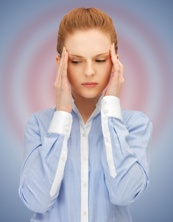 unhappy woman holding her head with hands  Stock Photo - 16796925