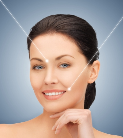 picture of beautiful woman ready for cosmetic surgery Stock Photo