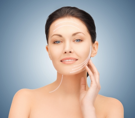 picture of beautiful woman ready for cosmetic surgery Stock Photo - 16796919