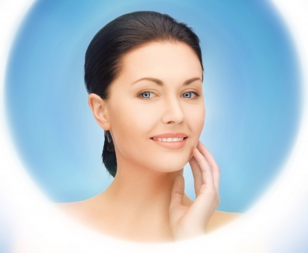 bright closeup portrait picture of beautiful woman Stock Photo - 16796918