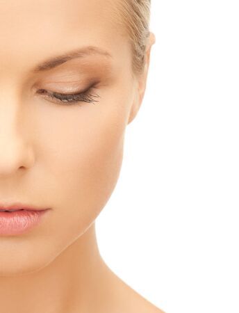 natural wonders: bright picture of pensive beautiful woman