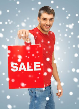 picture of handsome man with shopping bags Stock Photo - 16838878