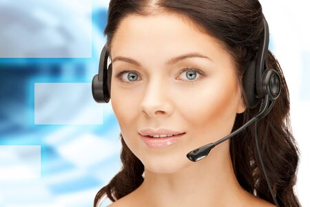 bright picture of friendly female helpline operator Stock Photo - 16848103