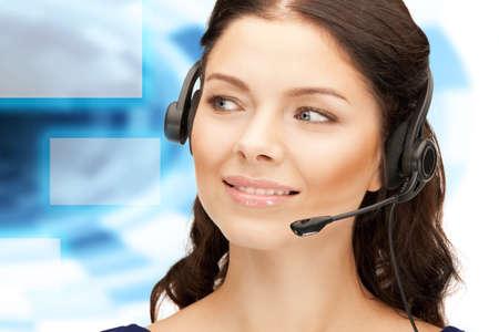 bright picture of friendly female helpline operator Stock Photo - 16880355