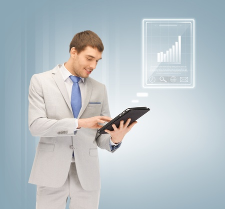 picture of happy man with tablet pc computer Stock Photo - 16880106
