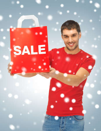 picture of handsome man with shopping bags Stock Photo - 16880128