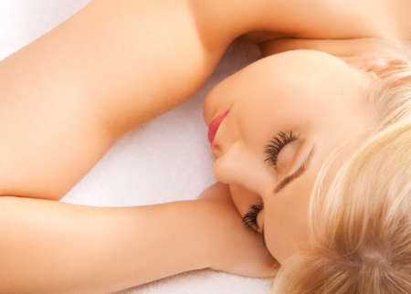 picture of beautiful woman in spa salon Stock Photo - 16937636