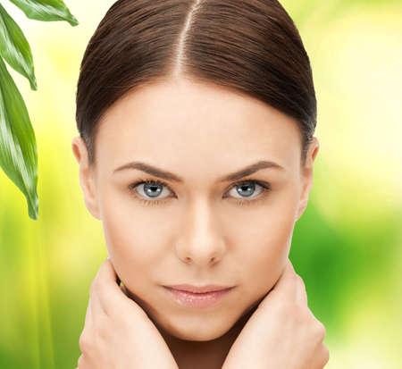 bright closeup portrait picture of beautiful woman Stock Photo - 17039707