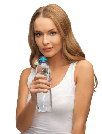 picture of young beautiful woman with bottle of water Stock Photo - 17039715