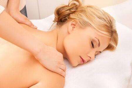 picture of calm beautiful woman in massage salon Stock Photo - 17038930