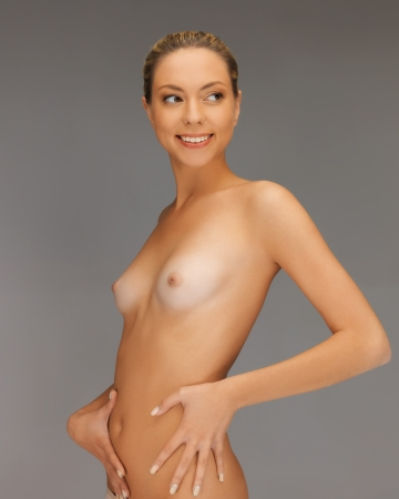 bright closeup picture of beautiful topless woman Stock Photo - 17098802