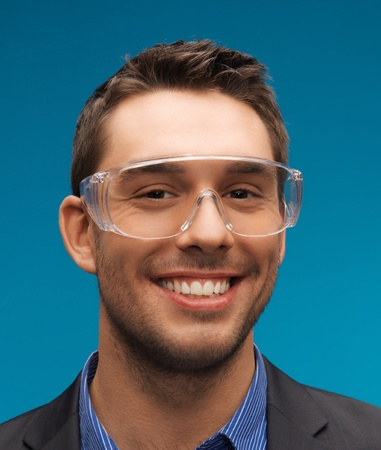 picture of handsome businessman in protective glasses  Stock Photo - 17193777
