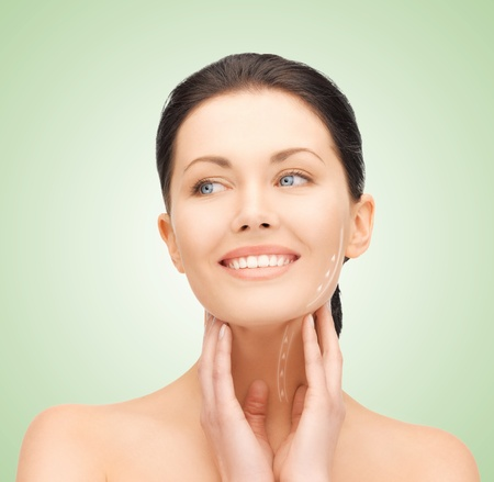 picture of beautiful woman ready for cosmetic surgery Stock Photo - 17492003
