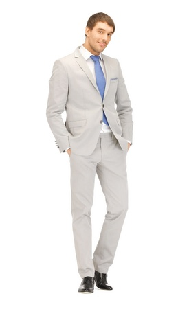 bright picture of handsome man in suit  photo
