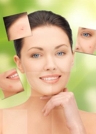 heldere close-up portret foto van mooie vrouw Stockfoto