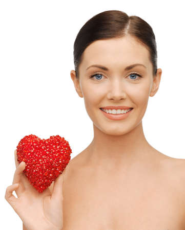 bright picture of beautiful woman with heart Stock Photo - 17479979