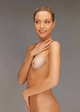bright closeup picture of beautiful topless woman Stock Photo - 17480060