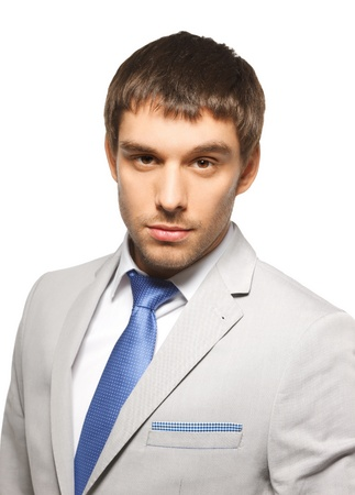 bright picture of handsome man in suit  Stock Photo - 17540331