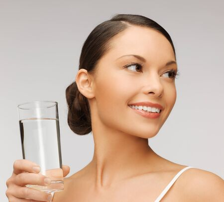 picture of beautiful woman with glass of water Stock Photo - 17540244