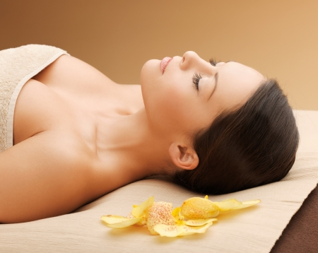picture of beautiful woman in spa salon Stock Photo - 17540295