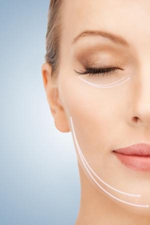 Bild der schönen Frau bereit für kosmetische Chirurgie Standard-Bild - 17540090