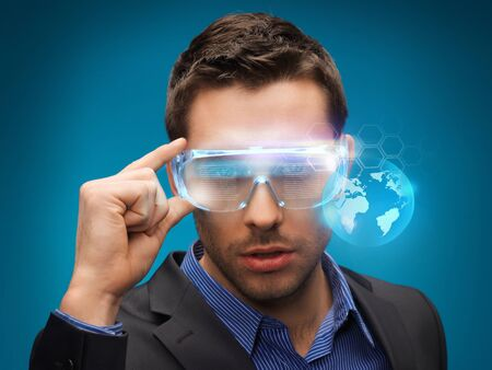 picture of handsome businessman with digital glasses Stock Photo - 17540447
